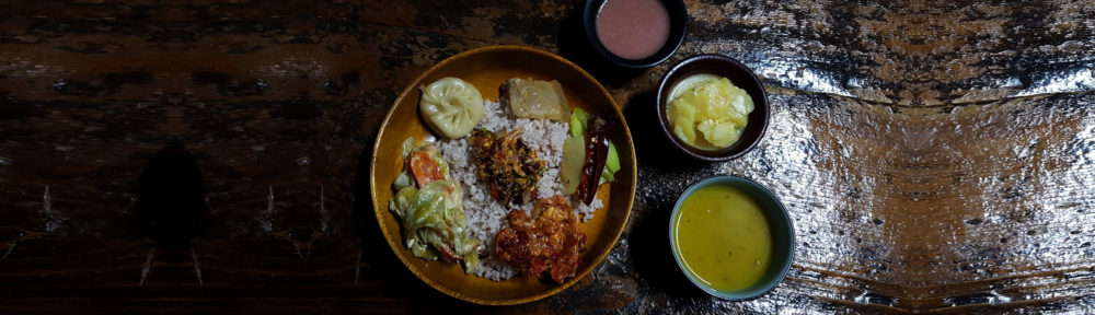 Farmhouse dinner, Bhutan